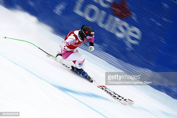 Stacey Cook of USA in action during the Audi FIS Alpine Ski World Cup Women's Downhill Training on November 30 2016 in Lake Louise Canada