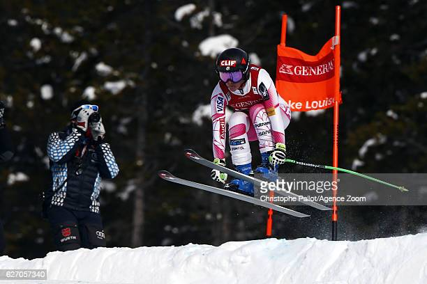 Stacey Cook of USA in action during the Audi FIS Alpine Ski World Cup Women's Downhill Training on December 1 2016 in Lake Louise Canada