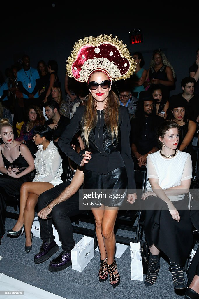 Stacey Engman attends the Alon Livne fashion show during Mercedes-Benz Fashion Week Spring 2014 at The Studio at Lincoln Center on September 10, 2013 in New York City.