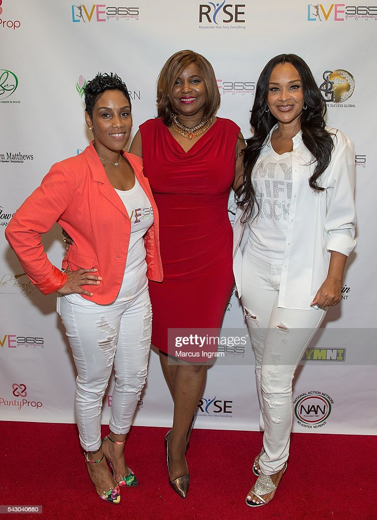 Stacey J., Dr. Rhonda Travitt, and actress Lisa Raye McCoy attends the LIVE 365 Empowerment Tour - Atlanta on June 25, 2016 in Atlanta, Georgia.
