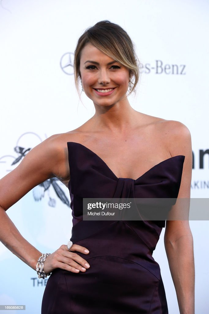 Stacey Keibler arrives at amfAR's 20th Annual Cinema Against AIDS at Hotel du Cap-Eden-Roc on May 23, 2013 in Cap d'Antibes, France.