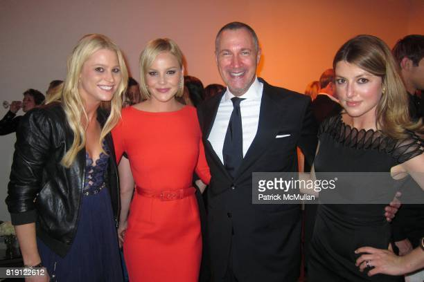 Stacey Kubasak Abbie Cornish Edward Menicheschi and Sara Riff attend KIMBERLY BROOKS Portrait Show Hosted by DIOR and VANITY FAIR at Dior Gallery at...