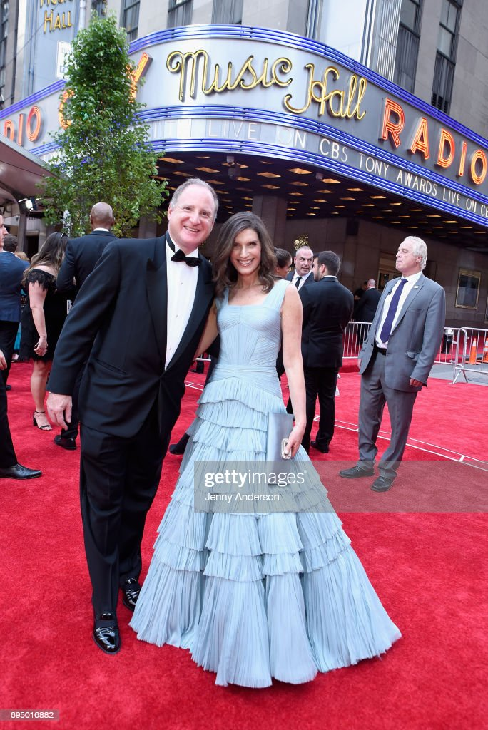Stacey Mindich (R) attends the 2017 Tony Awards at Radio City Music Hall on June 11, 2017 in New York City.