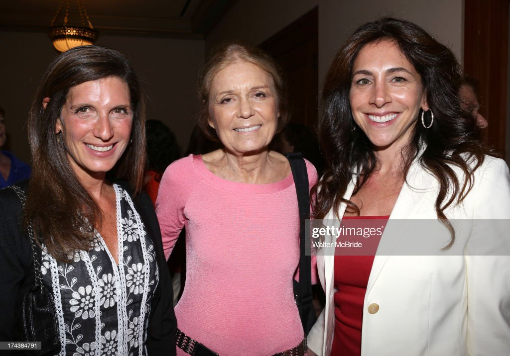 Stacey Mindich, Gloria Steinem and Stacy Bash-Polley attend the Opening Night Performance Reception for the Encores! Off-Center Production of 'I'm Getting My Act Together And Taking It On The Road' Opening Night Reception at New York City Center on July 24, 2013 in New York City.
