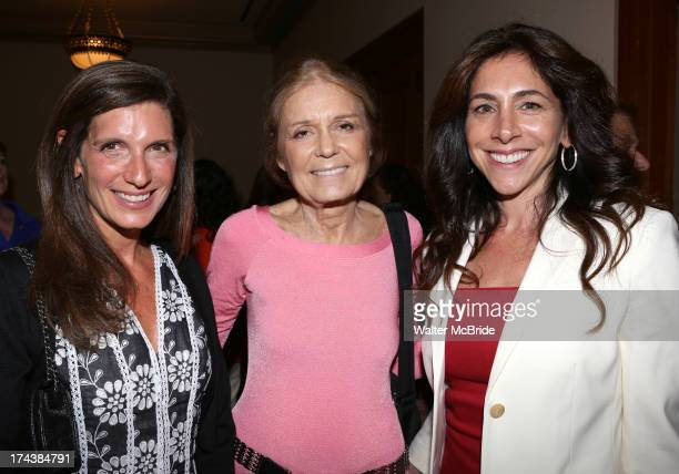 Stacey Mindich Gloria Steinem and Stacy BashPolley attend the Opening Night Performance Reception for the Encores OffCenter Production of 'I'm...