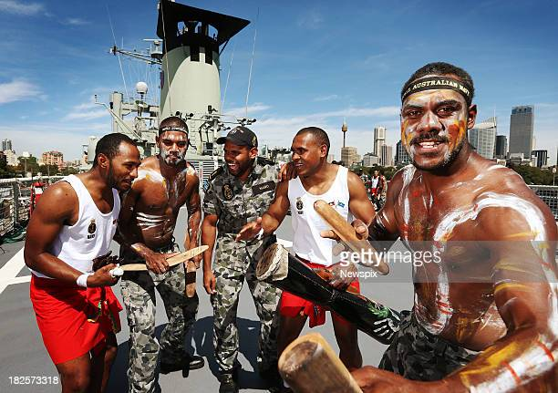 Stacey Muhamad Kaleb Mabo Cohen William Mabo Wilfred Bowie and Arthur Bagie on board the HMAS Tobruk which has the largest number of Indigenous crew...