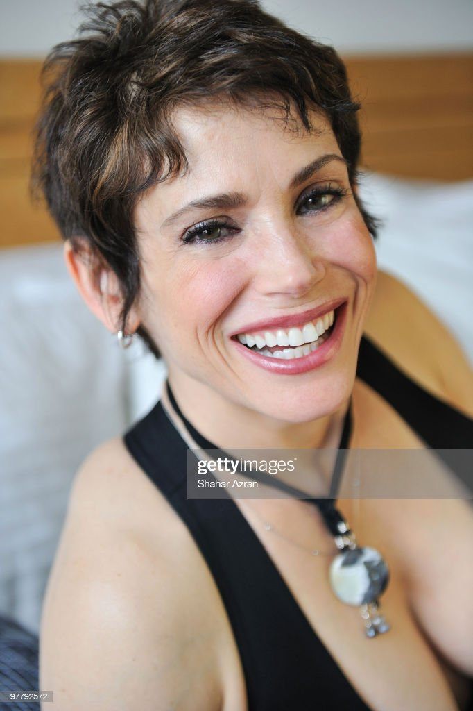 Stacey Nelkin attends a portrait shoot on January 22, 2010 in New York City.