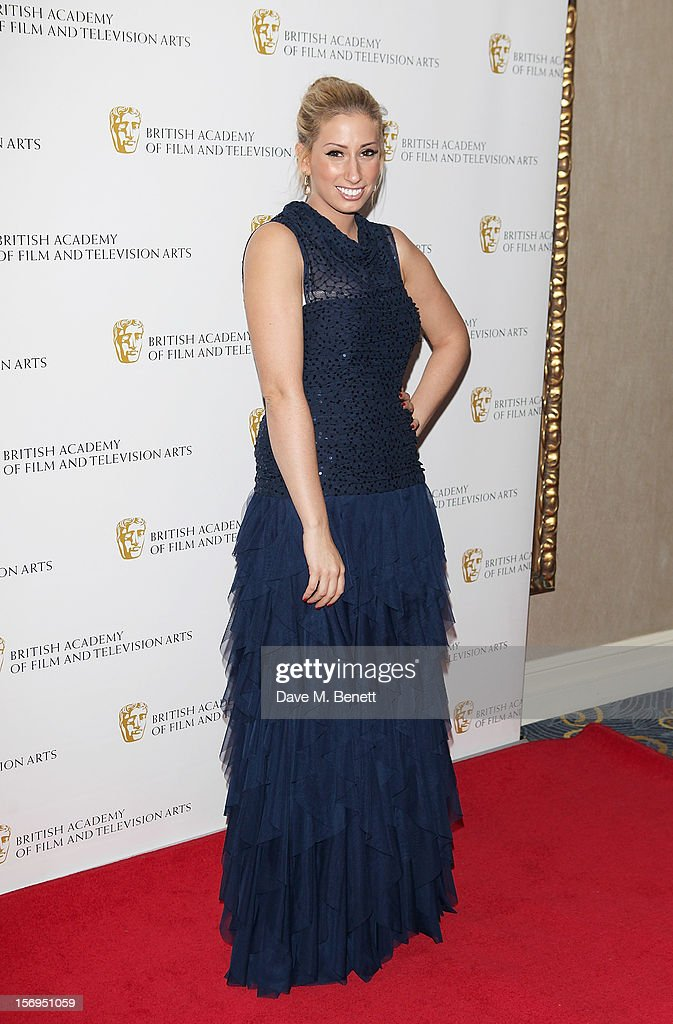 Stacey Solomon arrives at the British Academy Children's Awards at the London Hilton on November 25, 2012 in London, England.