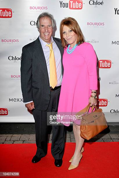 Stacey Winkler and director/actor Henry Winkler attend the 'Ceremony' Ater Party during the 35th Toronto International Film Festival at Brassaii on...