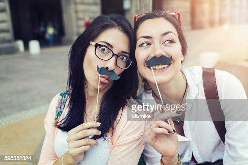 Stache-on-a-stick awareness and fun