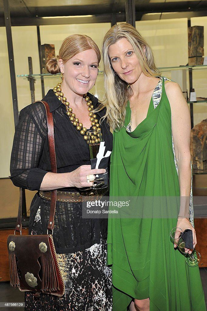 Stacia Lang and Haley Alexander Van Oosten of L'Oeil du Vert attend L'Oeil du Vert opening reception at Maxfield Gallery on April 30, 2014 in Los Angeles, California.