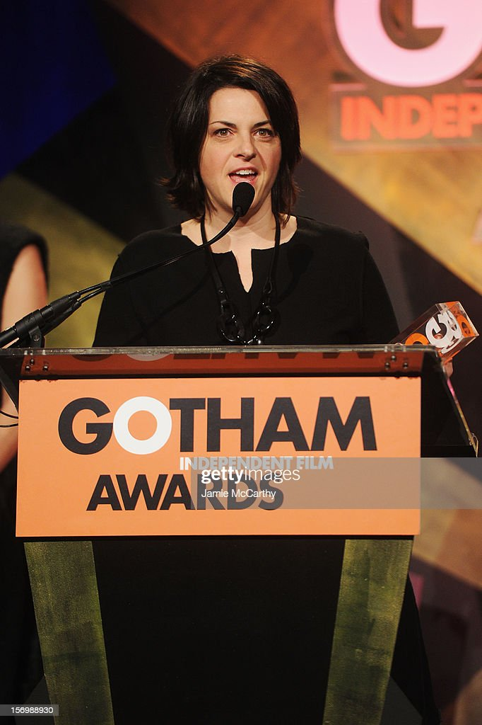 Stacie Passon speaks onstage at the 22nd Annual Gotham Independent Film Awards at Cipriani Wall Street on November 26, 2012 in New York City.