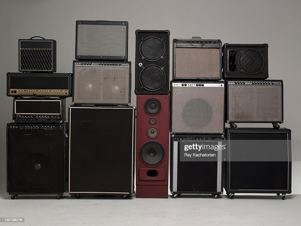 Stack of Amps and speakers