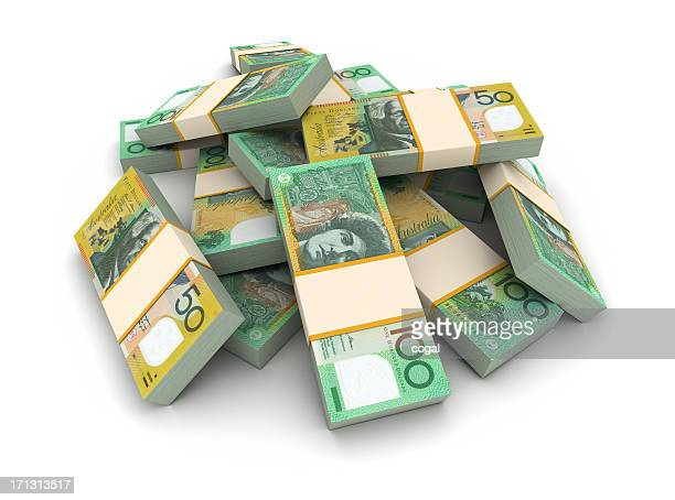 Stack of Australian dollars