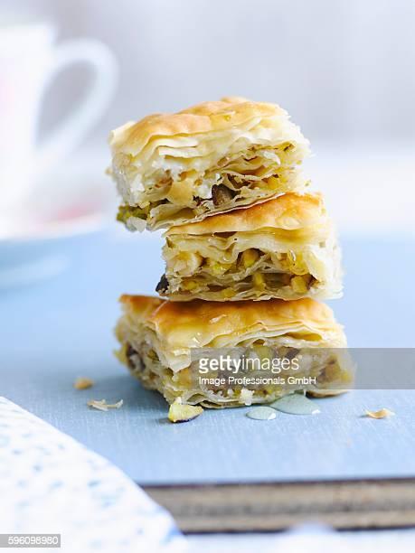 A stack of baklava