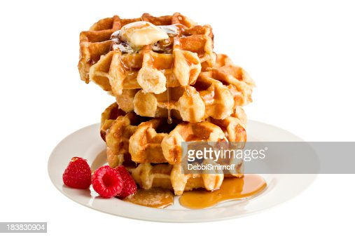 Stack Of Belgian Waffles