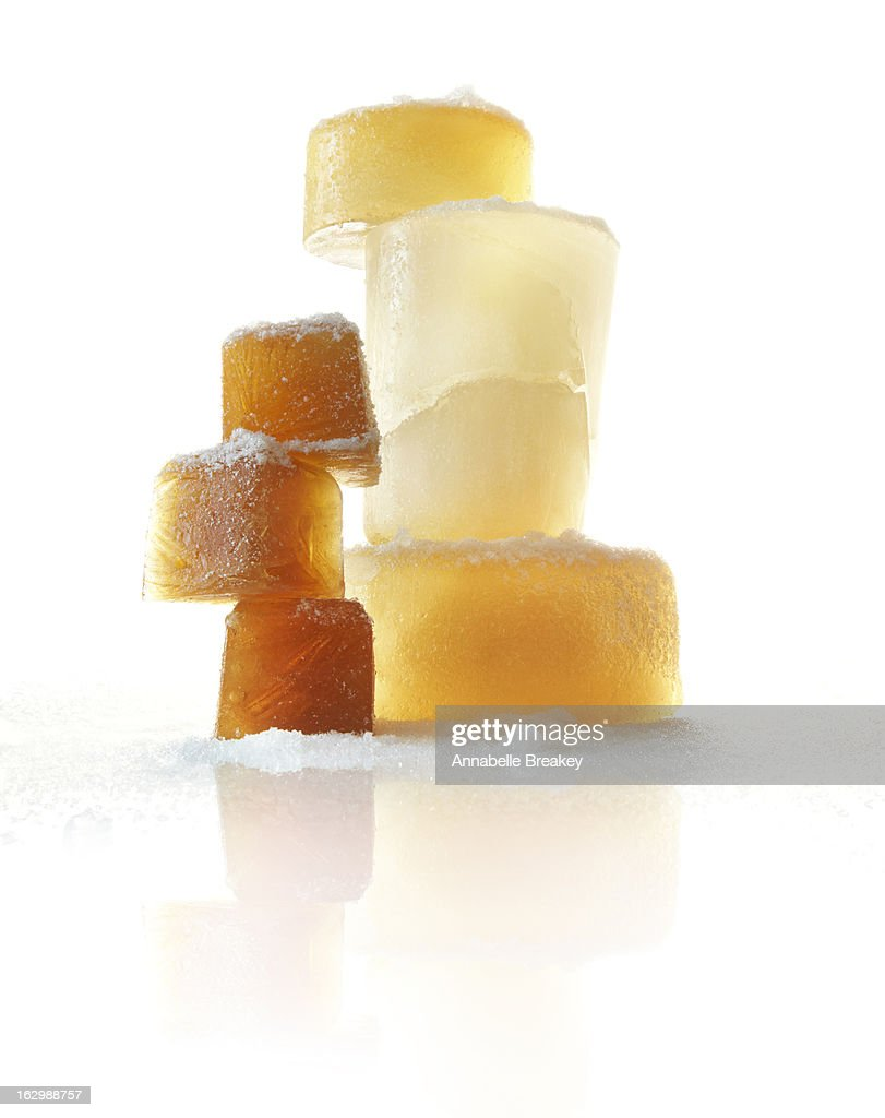 Stack of Blocks of Frozen Cooking Stock