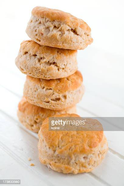 A stack of buttermilk biscuits