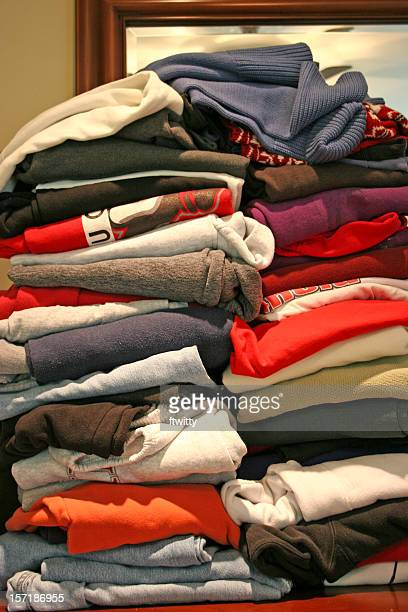 Stack of Clothing Vertical
