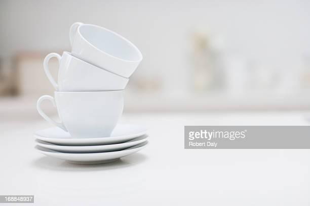 Stapel Kaffee Tassen