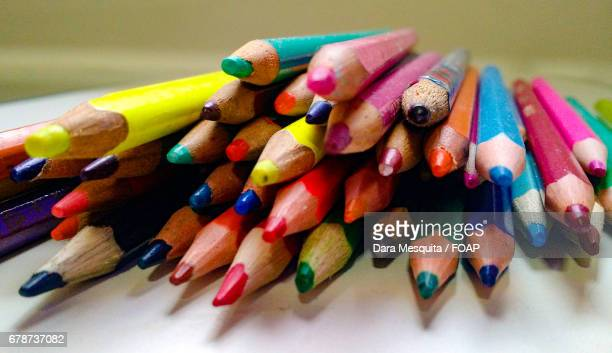 Stack of colored pencils