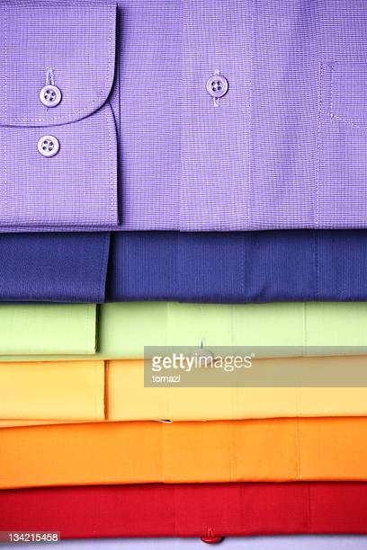 Stack of colored shirts
