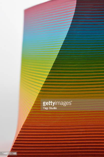 Stack of  colorful paper