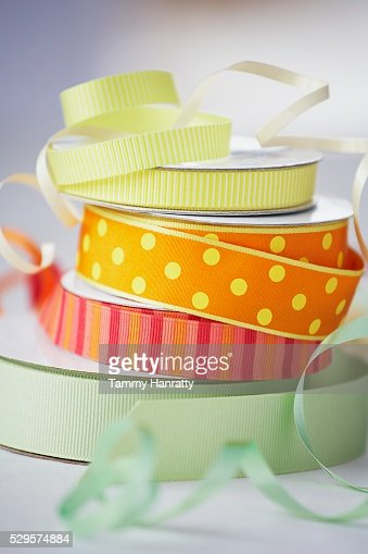 Stack of Colorful Ribbon : Stockfoto