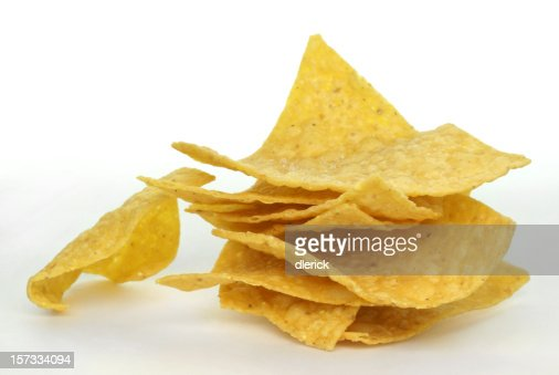stack of corn chips : Stock Photo