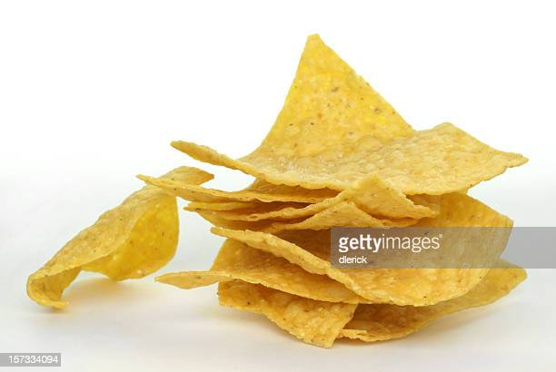 stack of corn chips