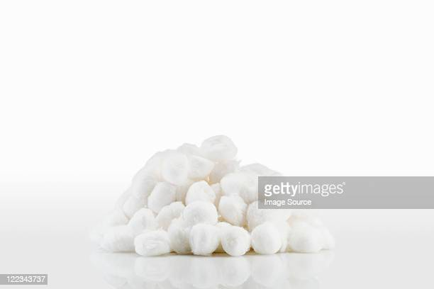 Stack of cotton wool balls