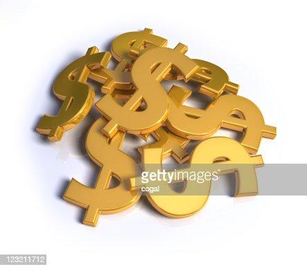 Stack of Dollar symbols