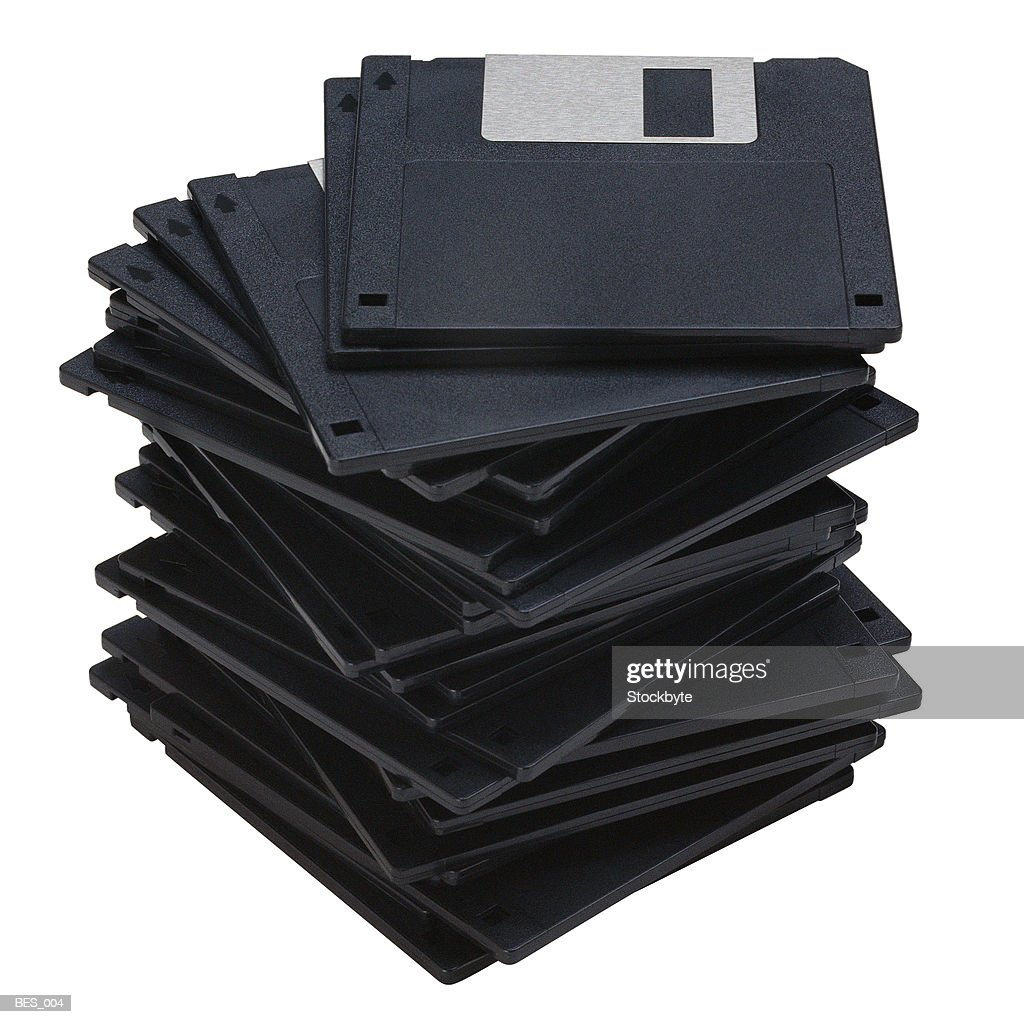 Stack of floppy disks : Stock Photo