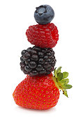 A stack of four berries
