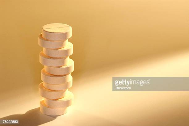 Stack of glucose pills