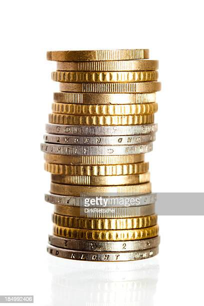 Stack of gold and silver coins