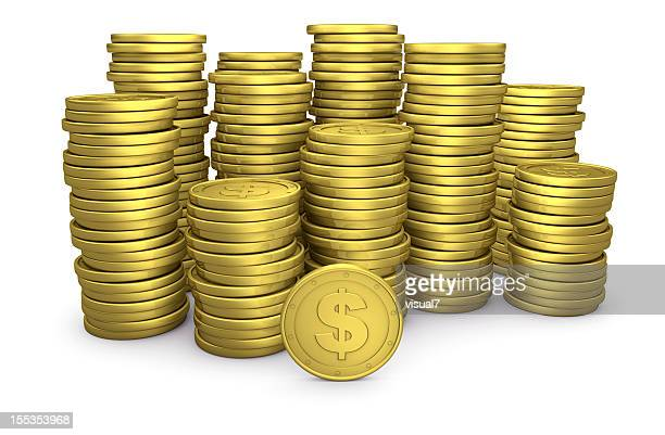 Stack of Golden $ Coins