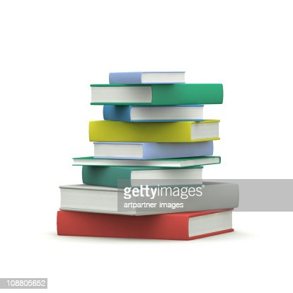 A Stack of Hardcover Books : Stock Photo