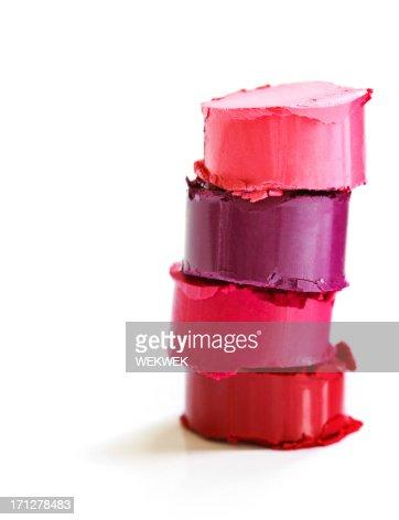 Stack of lipsticks