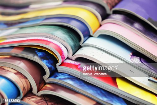stack of magazines : Stock Photo