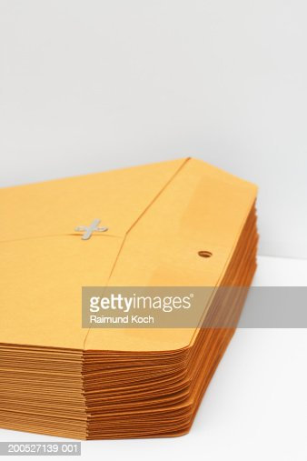 Stack of manila envelopes : Stock Photo