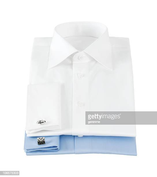 Stack of men's dress shirts
