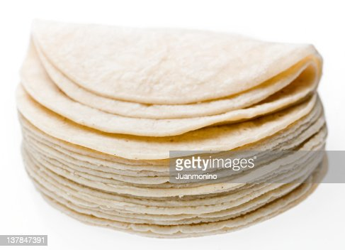 Stack of Mexican Corn Tortillas