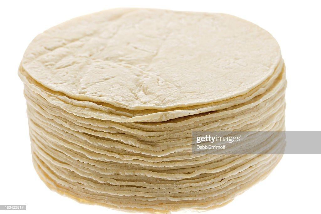 Stack of Mexican Tortillas Isolated