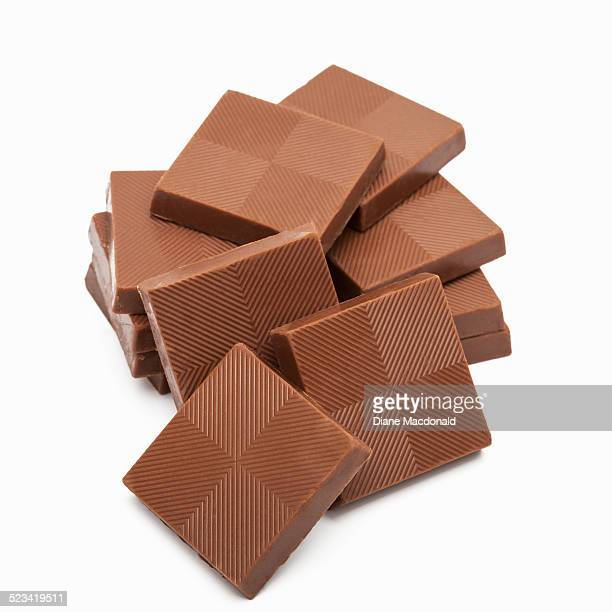Stack of milk chocolate squares