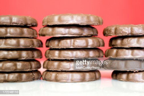 Stack of Mint cookies