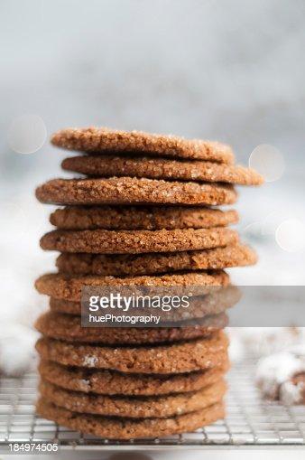 Stack of Molasses Crinkles