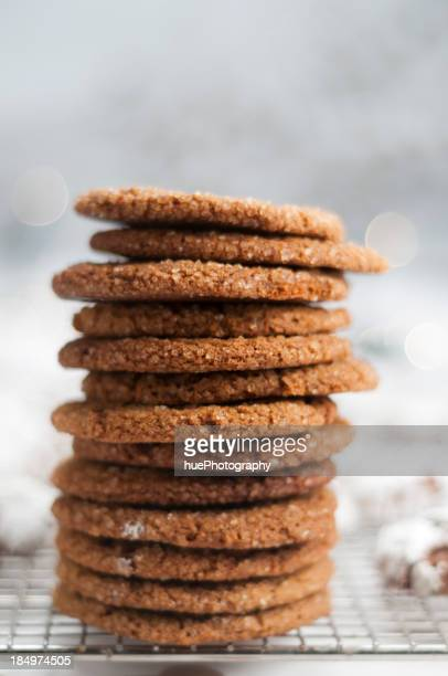 Stack of Molasses Crinkles