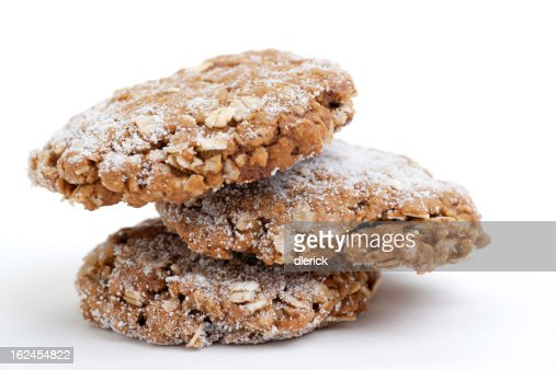 stack of molasses oatmeal cookies