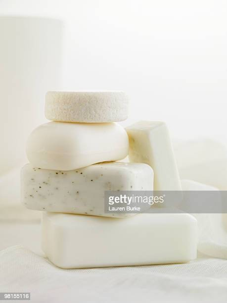 Stack of Natural Soaps